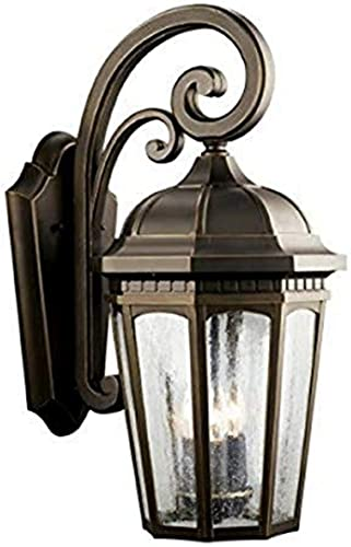 """discount Courtyard 22.25"""" outlet online sale 3 Light Outdoor Wall new arrival Light with Clear Seeded Glass in Rubbed Bronze online"""