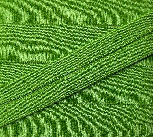3 m Jersey Einfassband Trikot elastisch 20 mm vorgefalzt apfelgrün