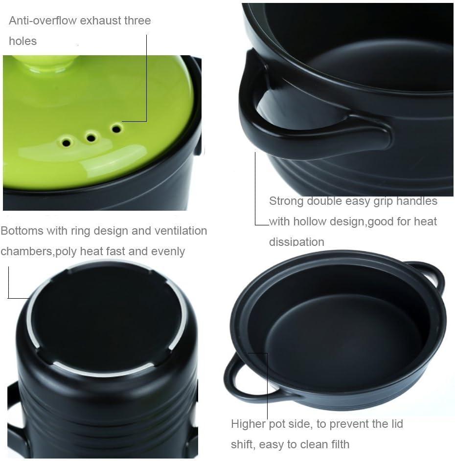 WJF Cuisson Casserole Soupe Pots Grand Feu 600 Degrés Haute Température Chaud Pot Sain Coloré Plat Stockpots Porridge Argile Sable (3.8L) (Couleur : Pink) Orange