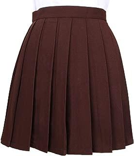 Mesdames évasée Patineuse Plaine Imprimé Jupes Femme Longueur Genou Extensible Midi Jupe