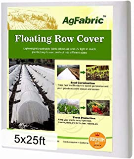 Agfabric Warm Worth Heavy Floating Row Cover & Plant Blanket,5x25ft for Frost Protection, Harsh Weather Resistance& Seed Germination