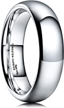 King Will Basic Men's 2mm 4mm 6mm 7mm 8mm Classic High Polished Domed Tungsten/Titanium/Tungsten Silicone Set Metal Wedding Ring