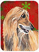 Caroline's Treasures SC9501MP Afghan Hound Red Snowflakes Holiday Christmas Mouse Pad, Hot Pad or Trivet, Large, Multicolor [並行輸入品]