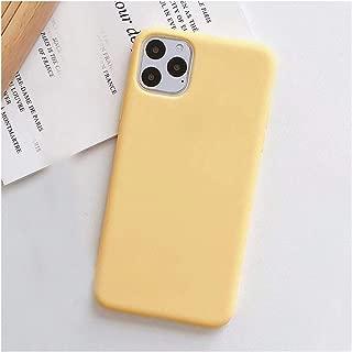 ソリッドカラーシリコンカップルケースiphone XR X XS最大6 6 s 7 8プラス11 11プロマックスかわいいキャンディーカラーソフトシンプルなファッション電話ケース,For iphone XS,Yellow