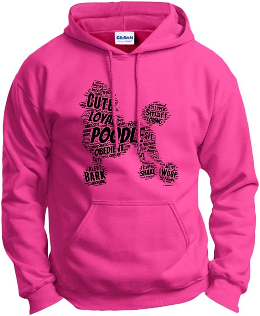 Poodle free Max 90% OFF shipping Word Art Dog Puppy Hoodie Owner Sweatshirt Gift