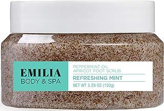 Emilia Foot Scrub With Dead Sea Minerals, Natural Exfoliating Spa Pedicure Scrub For Callus Removal for Rough Soles and He...