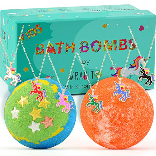 Bath Bomb with surprise necklace for girls, Best Birthday Gift Idea, Vegan, Handmade, Gender Neutral...