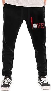 shenguang Love Baseball Pantalón de Forro Polar con Parte Inferior Cerrada para Hombre