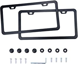 LivTee Black Aluminum License Frames, 2 PCS Car Licence Plate Covers Slim Design with..