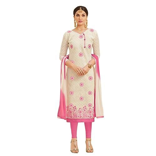 9bb3f29863 EthnicJunction Women's Dress Material (EJ1169-8002_Black_Free Size)