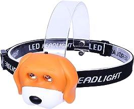 JIANGFBH Koplamp Koplamp Kind Kinderen Kid Nieuwigheid Dier Flash LED Hoofd Licht (Kleur: Geel)