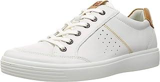 حذاء رياضي رجالي خفيف كلاسيكي برباط طويل من ECCO باللون الأبيض/الأسود، مقاس 6-6. 5 أمريكي