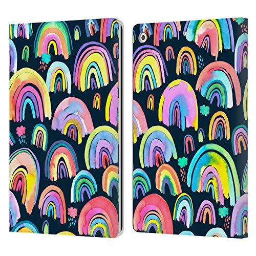 Head Case Designs Licenciado Oficialmente Ninola New Rainbows Navy Multi Patterns 4 Carcasa de Cuero Tipo Libro Compatible con Apple iPad 10.2 (2019)/(2020)