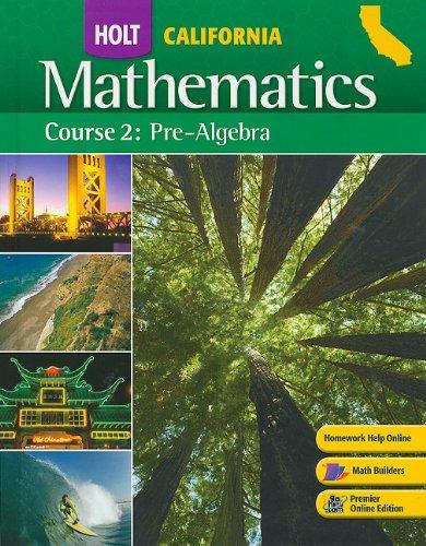Holt Mathematics: Course 2: Pre-algebra