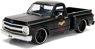 Jada 1969 Chevrolet C10 Stepside Pickup Truck Matt Black Garage Nuts Just Trucks Series 1/24 Diecast Model Car 99397