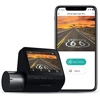 """70mai 2K Car Camera 1944p, Smart Dash Cam Pro 2.5K, Sony IMX335 2592x1944, WiFi Dash Camera for Cars, Parking Monitor, 2"""" LCD Screen, Night Vision, iOS/Android Mobile App WiFi, Voice Control (2021)"""