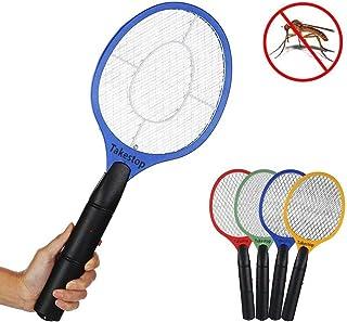 Takestop® - Raqueta eléctrica recargable matamosquitos, antimosquitos tigre, moscas, insectos, ...