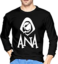 Charlynie Men's Overwatch Ana Cool Black Long Sleeve T Shirt