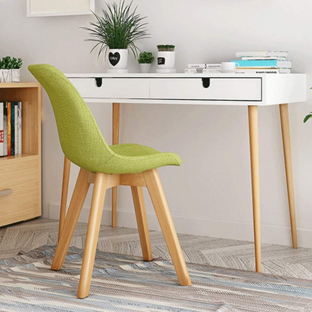 Chaise d'appoint au Design Moderne Simple et élégant en Bois Massif Chaise Tabouret Retour Maison Adulte Chaise de Bureau -6 Couleurs (Color : F) D