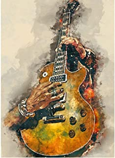 """DIY Paint by Numbers""""Hand Playing Guitar""""Paint by Numbers Kit for Adults Creative Color Handmade Oil Painting Home Art Decoration Gift(No Frame)"""