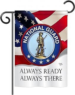 Breeze Decor G158020 National Guard Americana Military Impressions Decorative Vertical Garden Flag 13