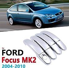 HZHAOWEI Cubierta de manijas cromadas, para Ford Focus MK2 MK2.5 2004~2010 Accesorios Pegatinas Car Styling 2005 2006 2007 2008 2009 2010