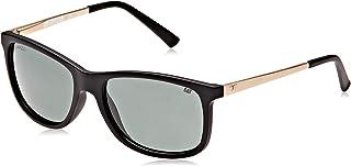 Caterpillar Men Polarized Sunglasses-Black Frame,Green Lens - CT16007-104P