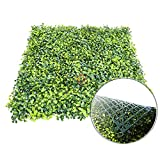 Patio Paradise 6pcs 20'x20' Artificial Boxwood Hedge Panel, Decorative Privacy Fence Screen Greenery Faux Plant Tree Wall for Indoor or Outdoor Garden Décor
