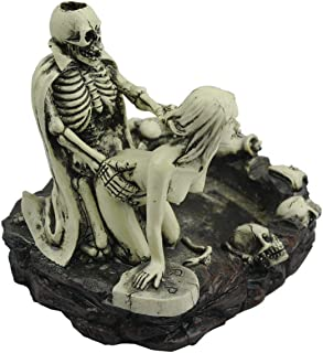 Skeleton Ashtray, Skull Ashtray Sex Ashtray Girl Skull and Fun Taste The Living Room Decoration