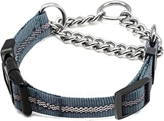 Wellbro Martingale Collars for Dogs, Dog Training Collar, Reflective Pet Limited-Cinch Collar, with Quick-Release Buckle