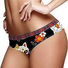 TIZORAX Sugar schedel kat en vos vrouwen ondergoed...