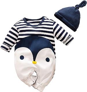 YEMOCILE Baby Jungen Mädchen Strampler Kuh und Bär Musterdruck Design Baby Süß Langarm Pyjamas Säugling Outfit Overall Schlafanzug Kleidung