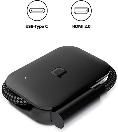 nonda USB-C to HDMI Adapter 4K@60Hz UHD, Foldable USB 3.1 Type C(Thunderbolt 3) to HDMI Dongle for 2017/2016 Macbook Pro, 2016/2015 MacBook, Samsung Galaxy Note S8