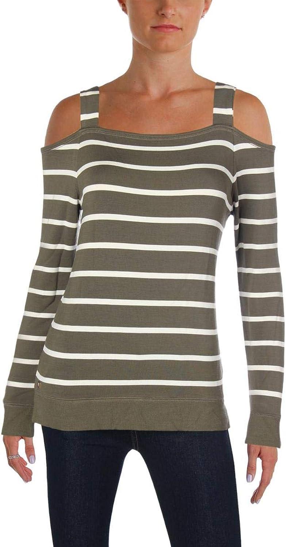 Lauren Ralph Lauren Womens Striped Long Sleeves Blouse