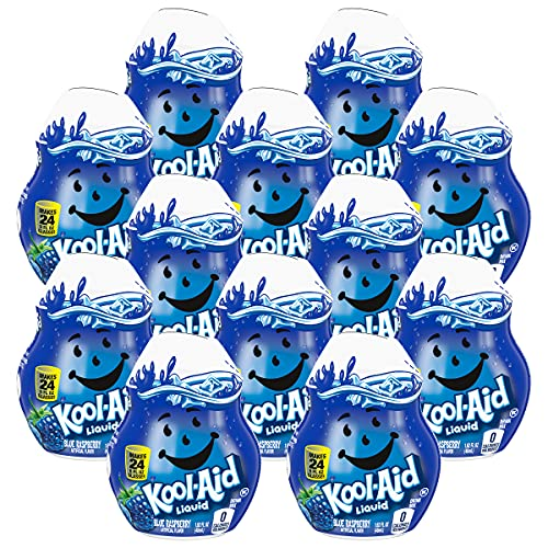 Kool Aid Liquid Concentrate Drink Mix, 1.62 Fluid Ounce (Blue Raspberry, Pack - 12)