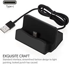 Type C Charging Dock Stand Station Desktop Charge and Sync Dock Compatible with Letv, Lumia 950, Moto Z Play, Samsung Galaxy 8, Huawei P9 Plus, Honor V8, MI and More - Black