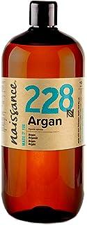 Naissance Marokkaanse arganolie (nr. 228) 1 liter (1000ml) - zuiver & natuurlijk - verzorgende olie voor gezicht, huid, ha...