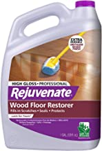 Rejuvenate Professional Wood Floor Restorer and Polish with Durable Finish Non-Toxic Easy Mop On Application High Gloss Fi...