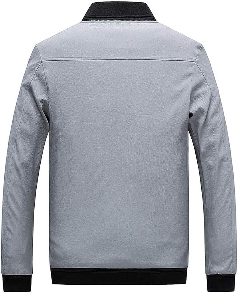 Uqiangy Mens Classic Solid Slim Fit Lightweight Softshell Windbreaker Bomber Jacket Coat