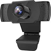 1080P Webcam with Microphone, USB 2.0 Desktop Laptop Computer HD Web Camera with Auto Light Correction, Plug and Play for ...