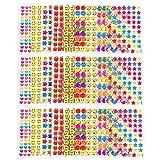 JZK 27 Fogli plastica piccoli adesivi emoji smile cuori stelle per insegnanti ricompensa bambini etichette adesive colorate per regalino pensierino dopo festa compleanno bimbi