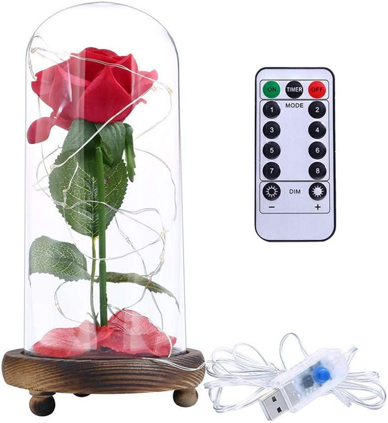 JYTFZD Conveniently Simulation Rose Flower String Light LED Ligh Large New product! New type discharge sale