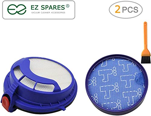EZ SPARES Dyson DC25 Compatible Prefilter and Post Motor HEPA Filter Replacement DC25 Vacuum Filter Compare to Part 9...
