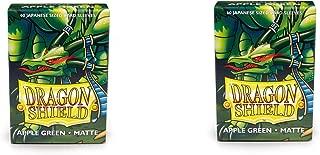 2 Packs Dragon Shield Matte Mini Japanese Apple Green 60 ct Card Sleeves Value Bundle!