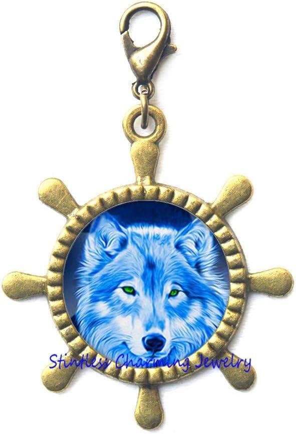 Wolf Head Rudder Ranking TOP19 Zipper Pull W Jewelry Clasp Lobster mart Animal