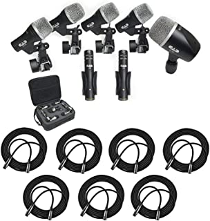 CAD Audio Stage7 Premium 7-Piece Drum Instrument Mic Pack With Vinyl Carrying Case & 7 - 20' XLR Cables