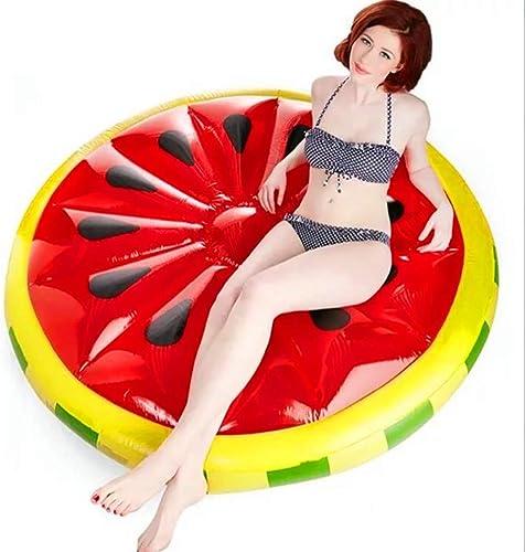 QJJML Runde Aufblasbare Wassermelone Schwimmende Reihe   Outdoor Schwimmen Klubsessel Schwimmkissen Luft Schwimmende Reihe Sommer Party Strand Urlaub Erwachsene Und Kinder