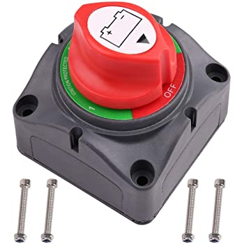 Amazon.com: Ampper Battery Switch, 12-48 V Battery Power Cut Master Switch  Disconnect Isolator for Car, Vehicle, RV and Boat (On/Off): AutomotiveAmazon.com