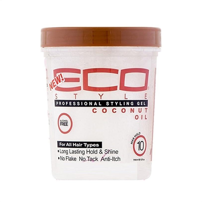 商品悪意のある抽象Eco Style ジェルココナッツオイル、32オンス
