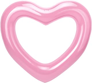 HeySplash Inflatable Swim Rings, Heart Shaped Swimming Pool Float Loungers Tube, Water Fun Beach Party Toys for Kids, Adults